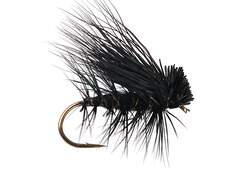 Black Superb Elk Hair Caddis 12