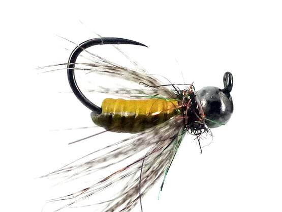FC Hackled Jig Yellow Olive BL TG