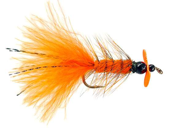 Orange Hot Wooly Bugger Evo