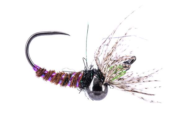Toms Preferred Chartreuse Jig Off Caddis Larva TG BL