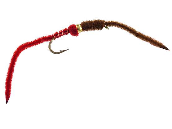 BH Two-Tone San Juan Worm - RedBrown 10
